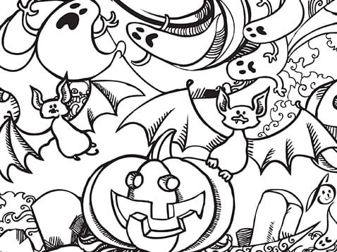 spooky coloring pages